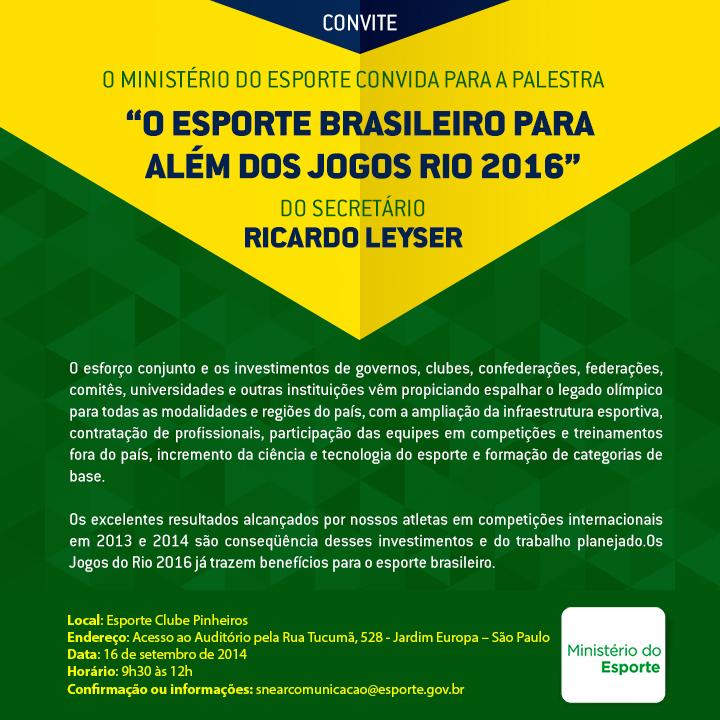 Convite Palestra no Pinheiros 16.9.14