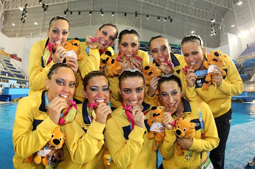 Brasileiras comemoram bronze no último Pan-Americano  (Foto: CBDA)