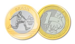 Moeda de 1 real Comemorativa - Atletismo (Divulgação/Banco Central)