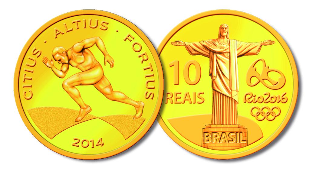 Moeda de Ouro – 100 Metros Rasos (Divulgação/Banco Central)