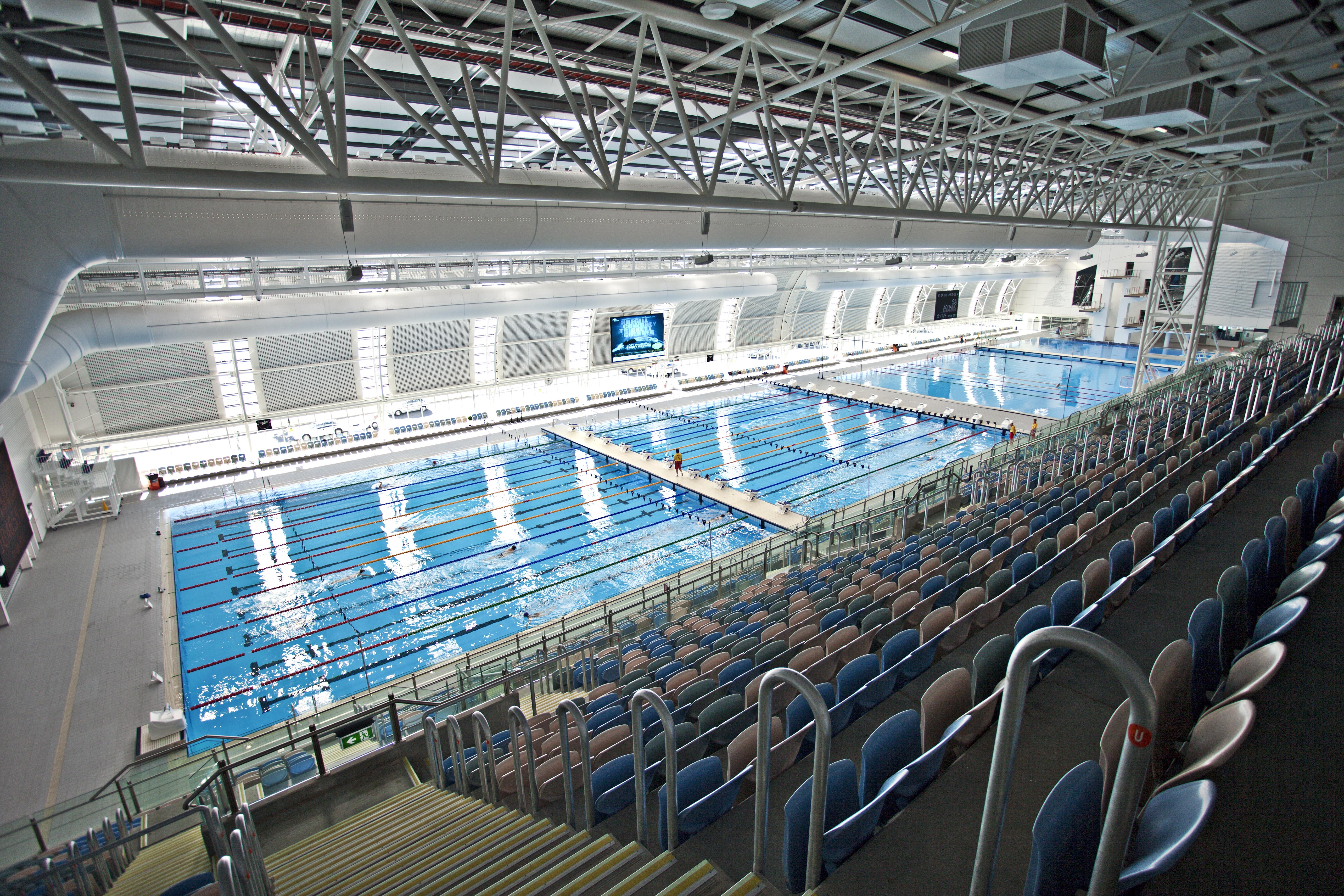 As piscinas Myrtha estão instaladas em várias partes do mundo: Leisure Center, Marion (Austrália)