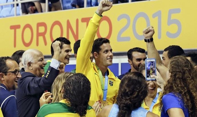 Thiago Pereira: título de Mister Pan. (Foto: AP Photo/ Divulgação)