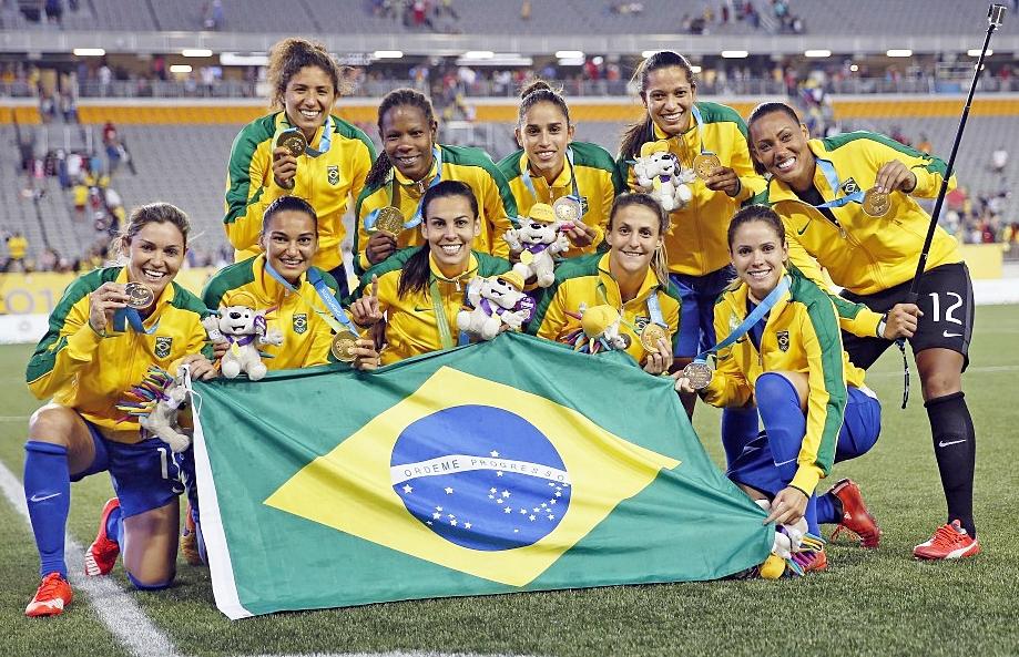 Seleção feminina: ouro no futebol (Foto: CBF divulgação)