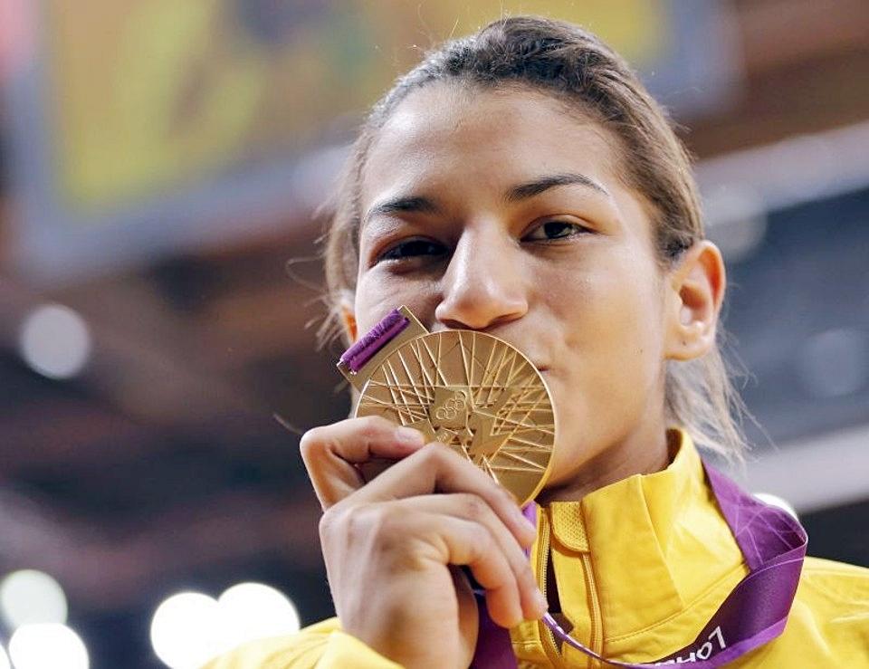 Sarah Menezes: ouro em Londres. (Foto: CBJ)